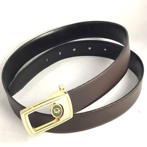Vintage Men's Brown Leather Christian Dior Belt